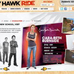 Cara-Beth & Lyn-Z In Tony Hawk Ride