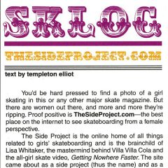 The Skateboard Mag | TheSideProject.com Featured Sklog