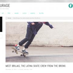 Latina Skate Crew From The Bronx