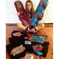 Minna Stess on Santa Cruz Skateboards
