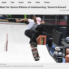 "ESPN | Meet the ""Serena Williams of skateboarding"""
